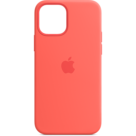 Apple Silikon Case iPhone 12 Pro Max - Zitruspink 99931342 vorne