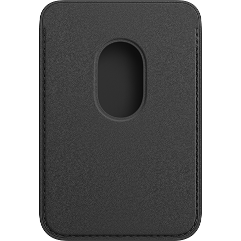 Apple Leder Wallet iPhone 12 Mini - 12 - 12 Pro - 12 Pro Max - Schwarz 99931395 hinten