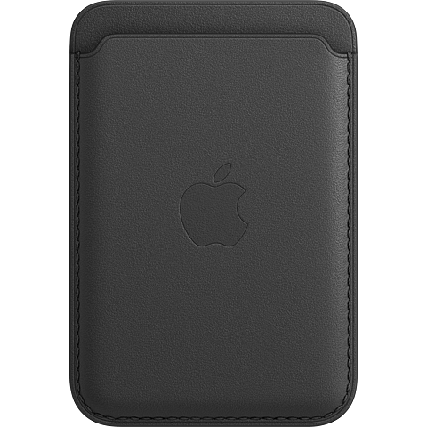 Apple Leder Wallet iPhone 12 Mini - 12 - 12 Pro - 12 Pro Max - Schwarz 99931395 vorne