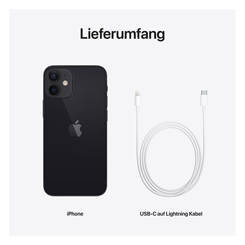 Apple iPhone 12 mini Schwarz Lieferumfang