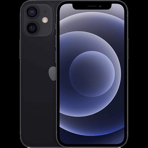 Apple iPhone 12 mini Schwarz Vorne und Hinten