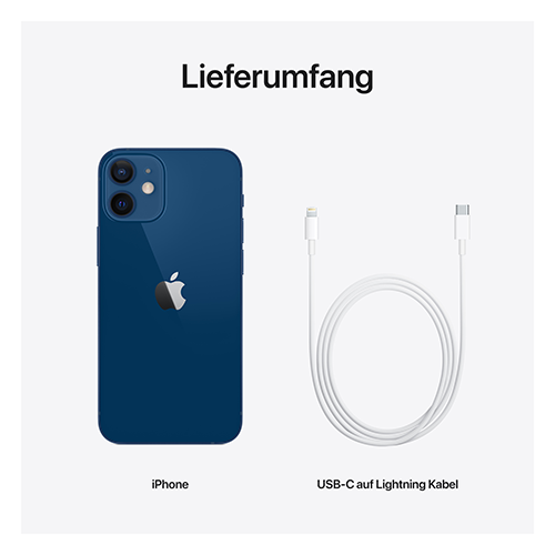 Apple iPhone 12 mini Blau Lieferumfang