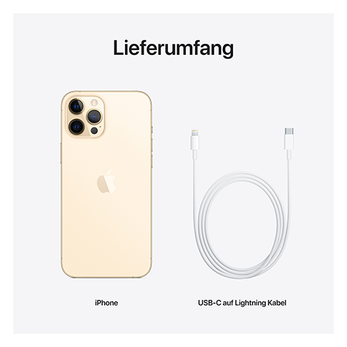 Apple iPhone 12 Pro Max Gold Lieferumfang