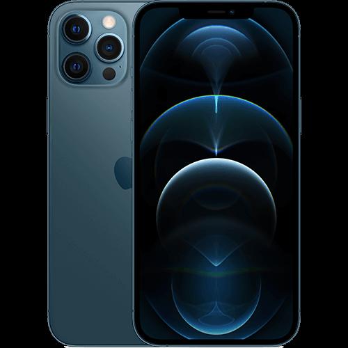 Apple iPhone 12 Pro Max Pazifikblau Vorne und Hinten