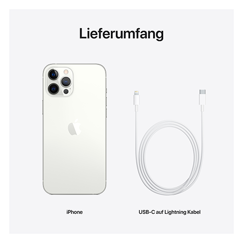 Apple iPhone 12 Pro Max Silber Lieferumfang