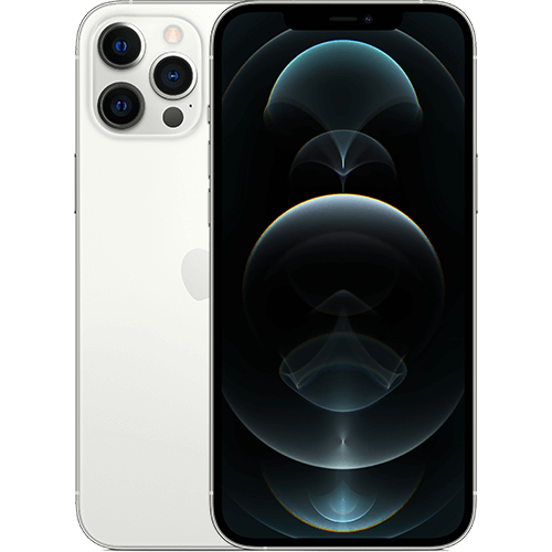 Apple iPhone 12 Pro Max Silber Vorne und Hinten