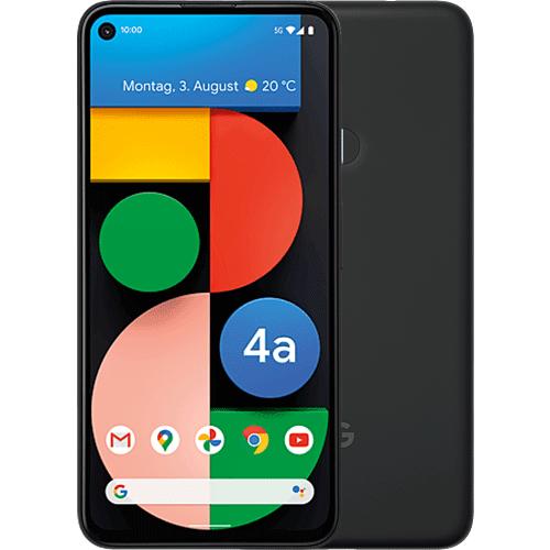 Google Pixel 4a (5G) Just Black Vorne und Hinten