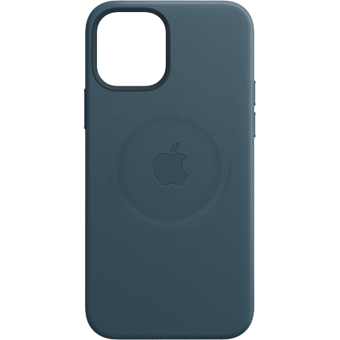 Apple Leder Case iPhone 12 mini - Baltischblau 99931410 vorne