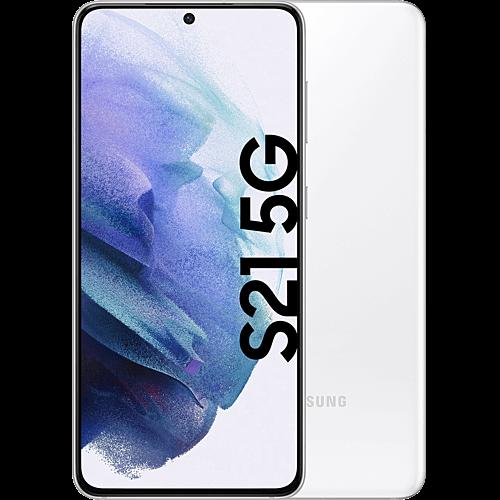 Samsung Galaxy S21 5G Phantom White Vorne und Hinten