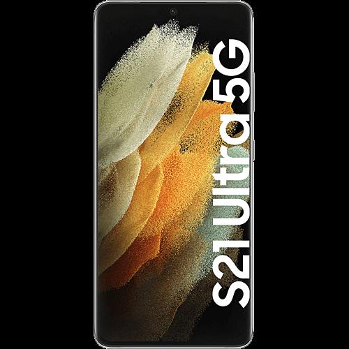Samsung Galaxy S21 Ultra 5G Phantom Silver Vorne