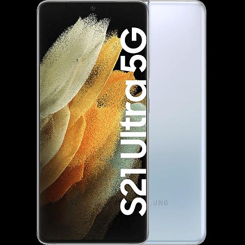 Samsung Galaxy S21 Ultra 5G Phantom Silver Vorne und Hinten