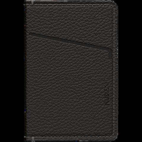 Nudient Magnat Leder Wallet - Schwarz 99931615 vorne