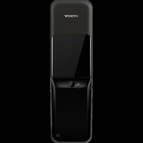 Nokia 2720 Flip Schwarz Hinten
