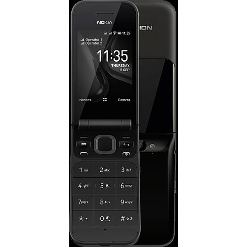 Nokia 2720 Flip Schwarz Vorne und Hinten