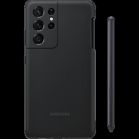 Samsung Silicone Cover Galaxy S21 Ultra 5G und S Pen - Schwarz 99931738 vorne