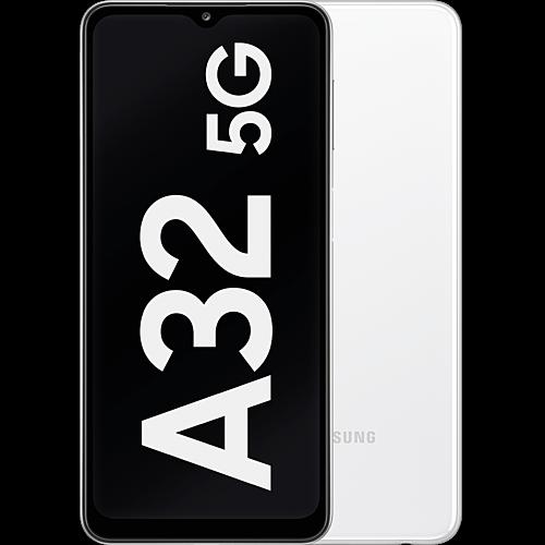 Samsung Galaxy A32 5G Awesome White Vorne und Hinten