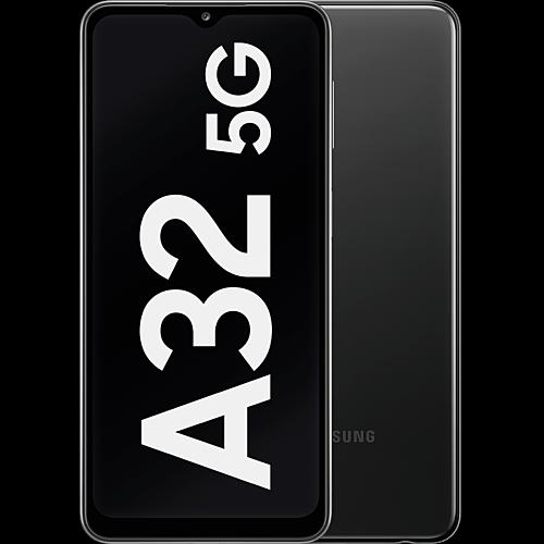 Samsung Galaxy A32 5G Awesome Black Vorne und Hinten
