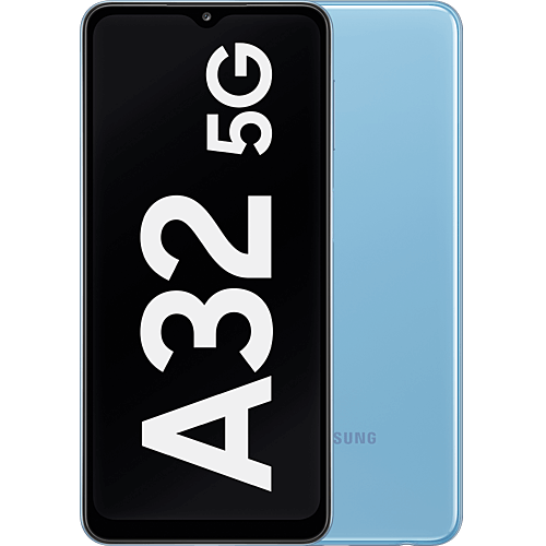Samsung Galaxy A32 5G Awesome Blue Vorne und Hinten