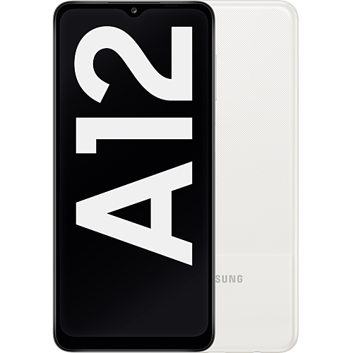 Samsung Galaxy A12 White Vorne und Hinten