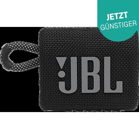 JBL GO 3 Bluetooth-Lautsprecher - Schwarz 99931726 vorne
