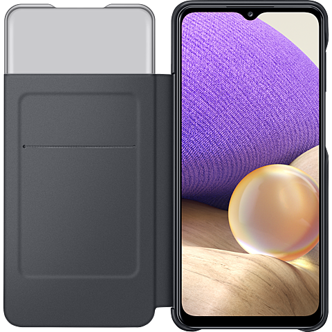 Samsung Smart S-View Wallet Cover Galaxy A32 - Schwarz 99931846 seitlich