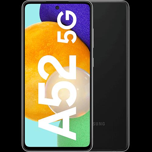 Samsung Galaxy A52 5G Awesome Black Vorne und Hinten