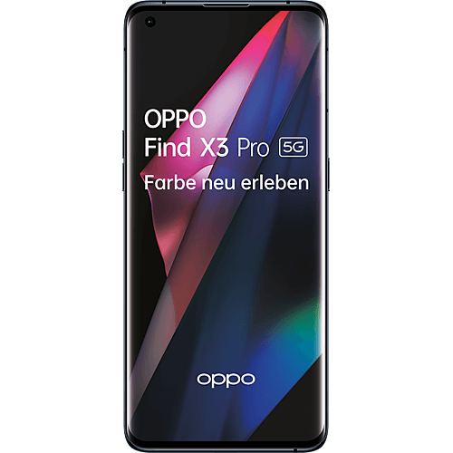 OPPO Find X3 Pro 5G Gloss Black Vorne