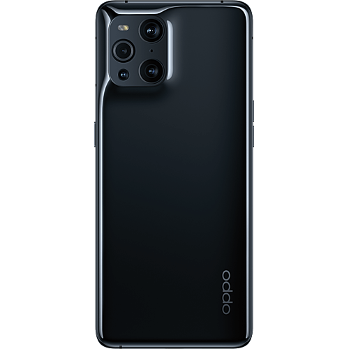 OPPO Find X3 Pro 5G Gloss Black Hinten