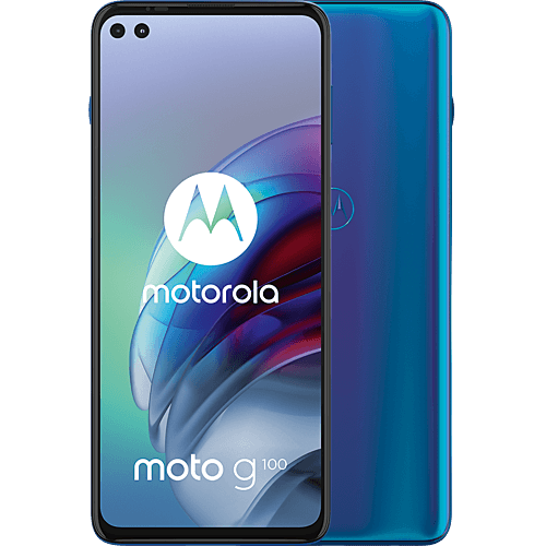 Motorola G100 Dock Bundle Blau Vorne und Hinten