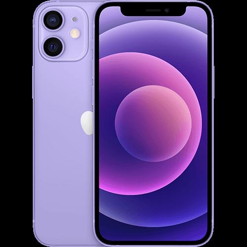 Apple iPhone 12 mini Violett Vorne und Hinten