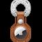 Apple AirTag Leder Schlüsselanhänger - Sattelbraun 99932116 vorne thumb