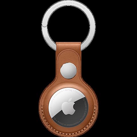 Apple AirTag Leder Schlüsselanhänger - Sattelbraun 99932116 vorne