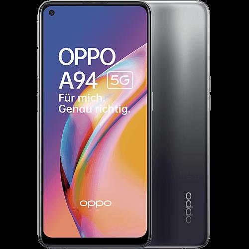 OPPO A94 5G Fluid Black Vorne und Hinten