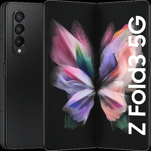 Samsung Galaxy Z Fold3 5G Phantom Black Vorne und Hinten