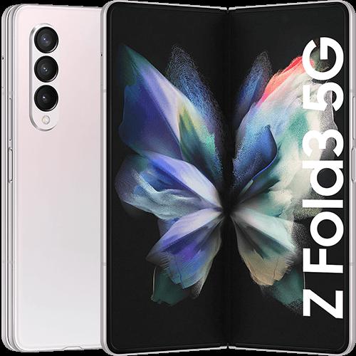 Samsung Galaxy Z Fold3 5G Phantom Silver Vorne und Hinten